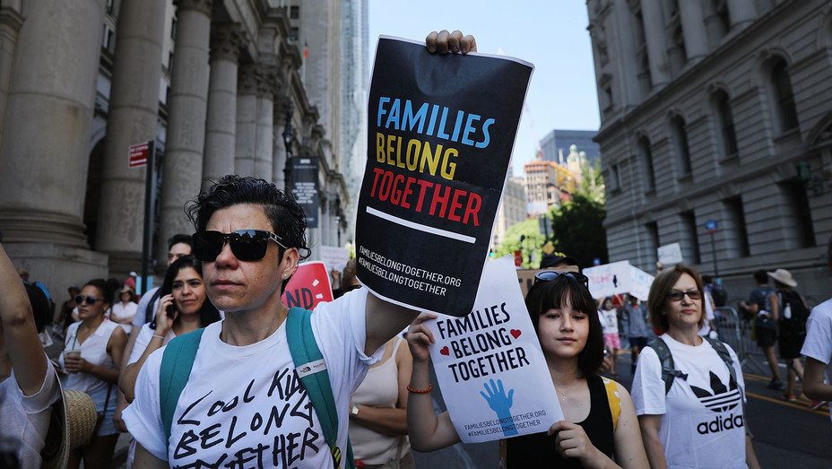 New York Families Belong Together Immigration Protest - H Getty 2018
