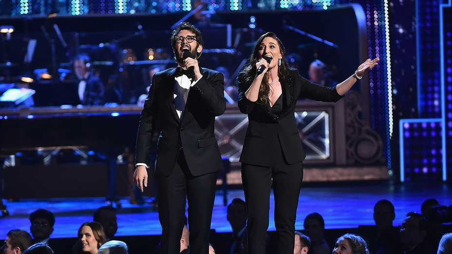 Josh Groban and Sara Bareilles_Perform_Tonys - Getty - H 2018