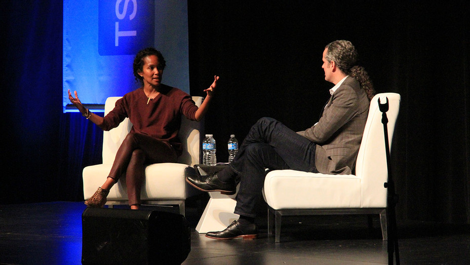 Mara Brock Akil with TSC Founder Glenn Cockburn-Publicity-H 2018