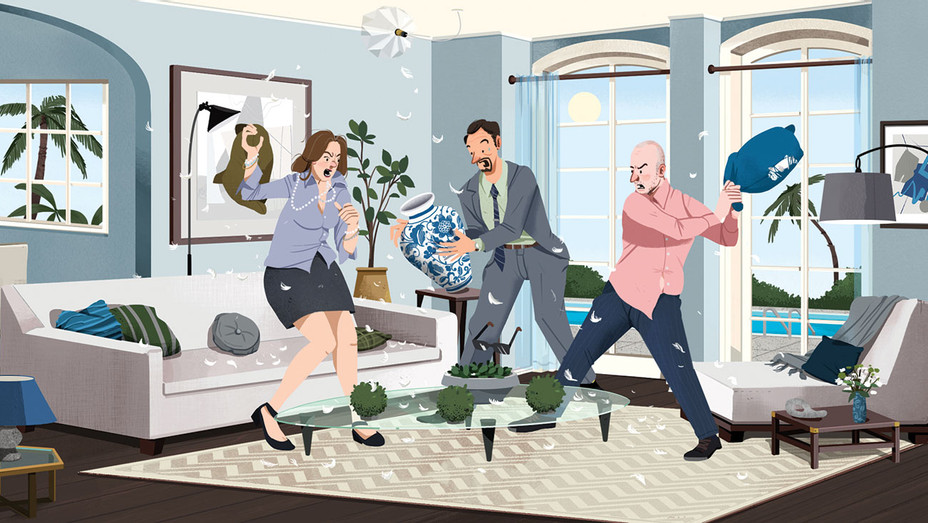 Family Feud Erupts Among L.A.'s Top Home Stagers -Illustrated by Nathan Hackett-H 2018