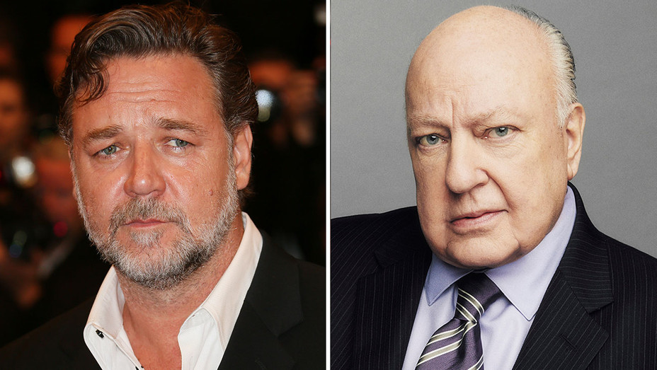 Russell Crowe to Play Roger Ailes -Split-Getty-H 2018