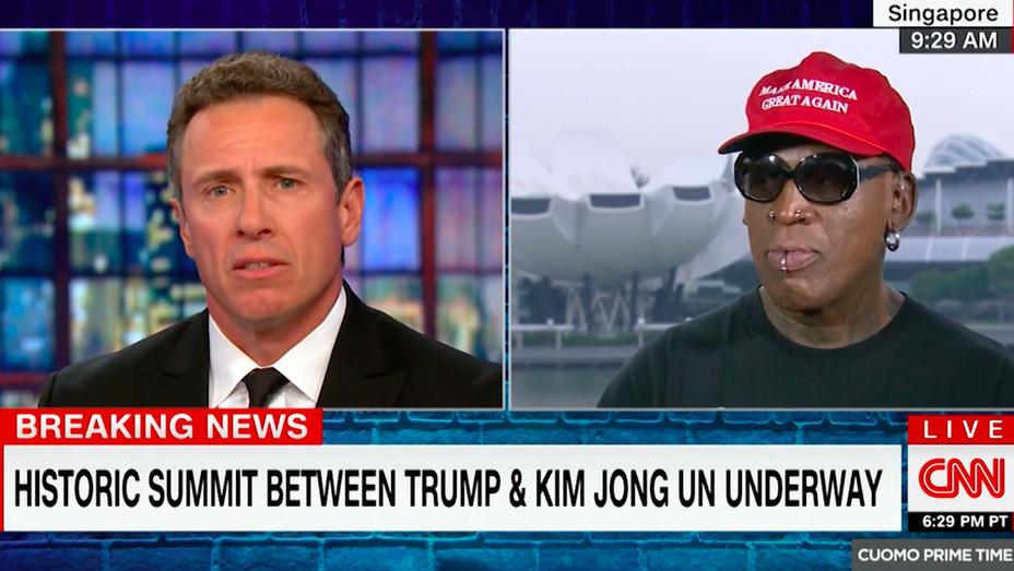 Dennis Rodman North Korea CNN - Screengrab - H 2018