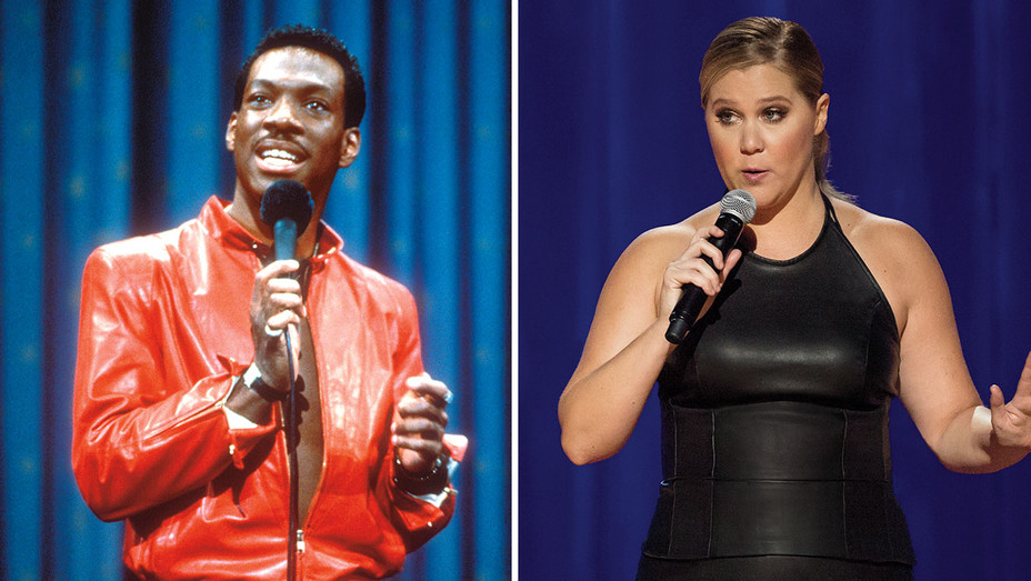 Stand-Up_Clothes_Eddie Murphy and Amy Schumer_Split - Photofest - H 2018