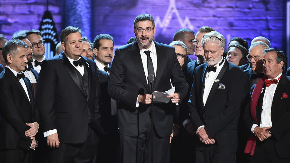 The Band's Visit accept the award for Best Musical - Getty - H 2018