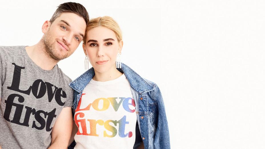 J Crew Zosia Mamet and Evan Jonigkeit - Publicity - H 2018