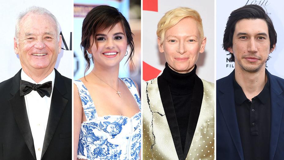 Bill Murray, Selena Gomez, Tilda Swinton and Adam Driver-Split-Getty-H 2018