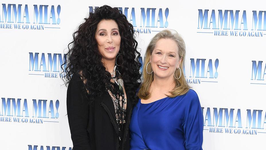 Cher and Meryl Streep_Mamma Mia! Here We Go Again_Premiere - Getty - H 2018
