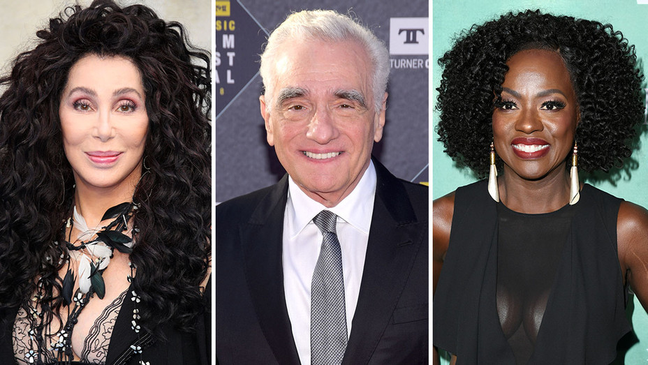 Cher, Martin Scorsese and Viola Davis-Split-Getty-H 2018
