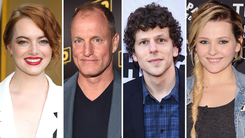 Emma Stone, Woody Harrelson, Jesse Eisenberg Abigail Breslin -Split-Getty-H 2018