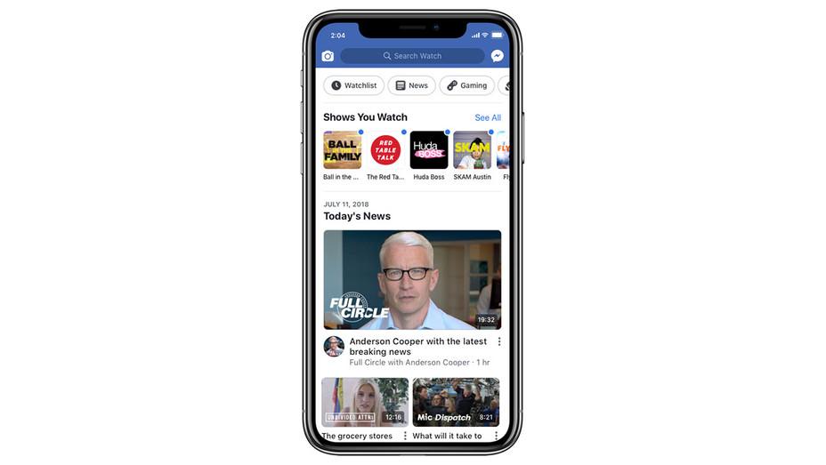 Facebook Watch UI - Publicity - H 2018