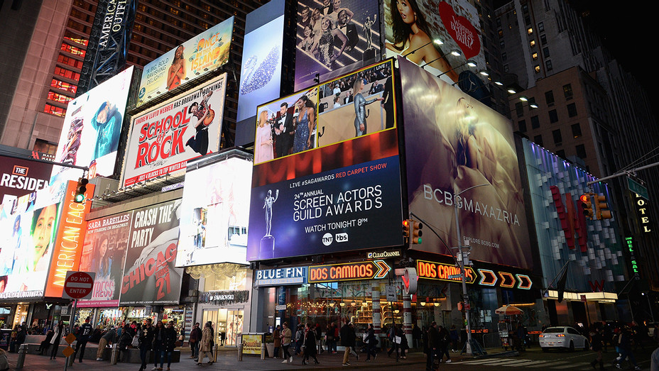 Times Square Billboards - Getty - H 2018