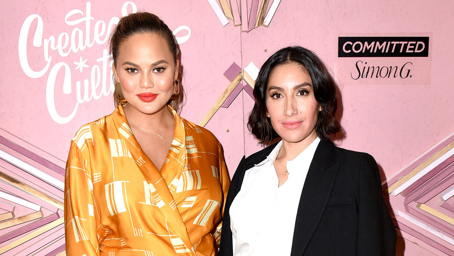 Chrissy Teigen and Founder of Ouai Haircare Jen Atkin - Getty-H 2018