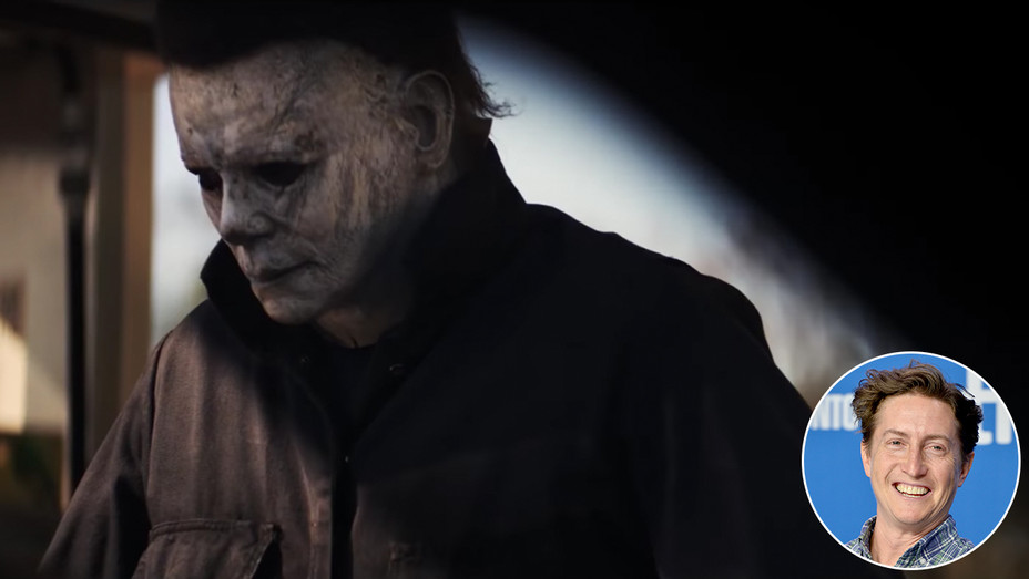 Halloween Trailer Michael Meyers Close Up David Gordon Green Inset - Getty - H 2018