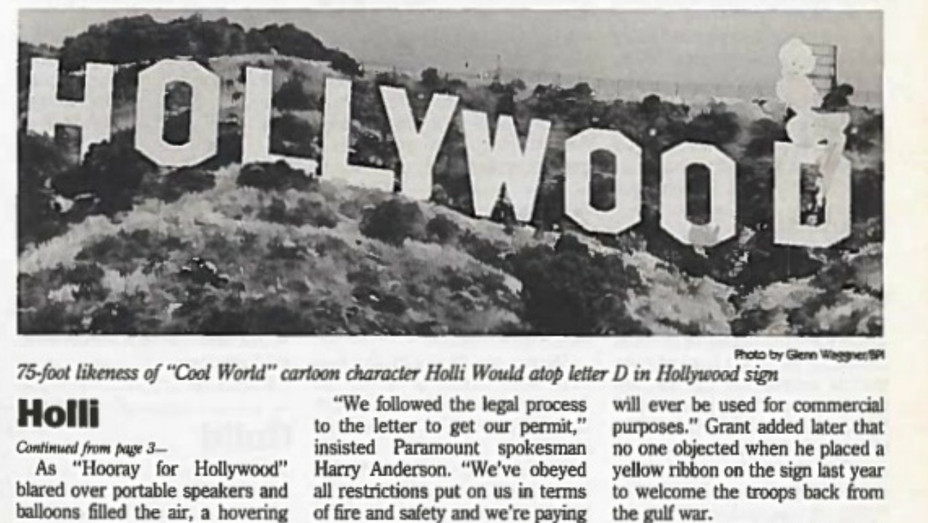 1992 Hollywood Sign Stunt - H - 1992