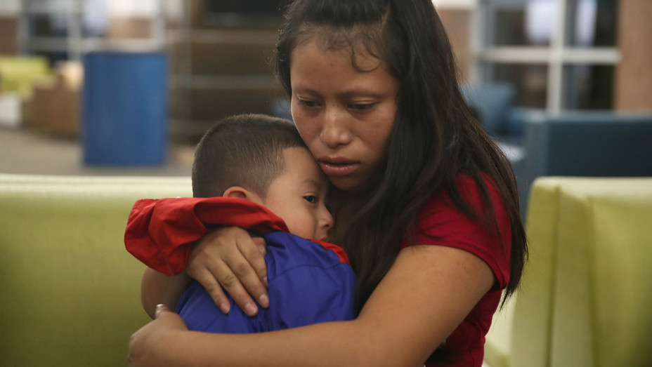 Families reunited in Texas Getty - H