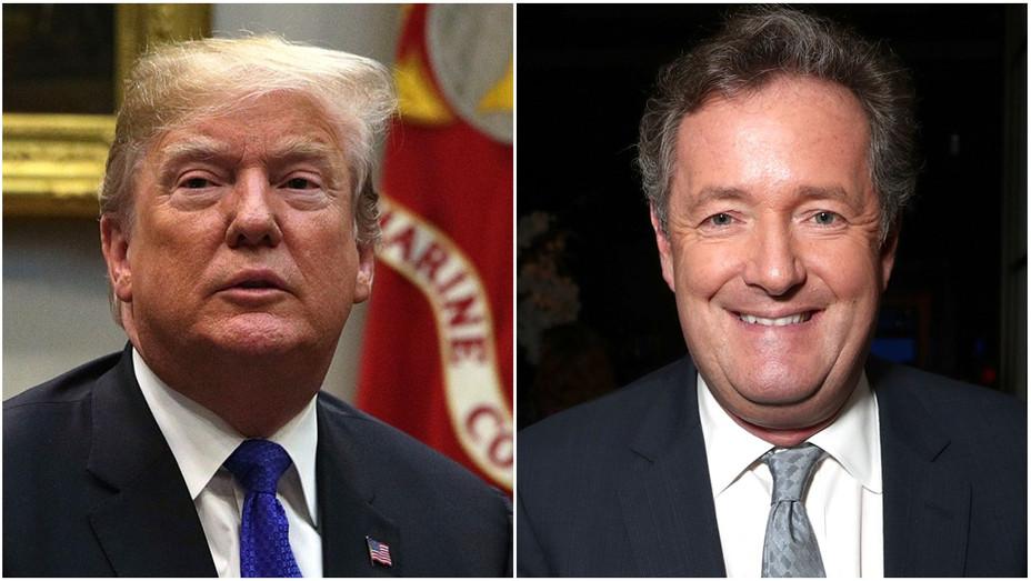 Donald Trump Piers Morgan Split - Getty - H 2018