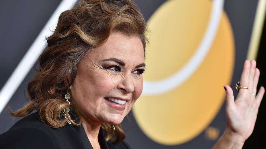 Roseanne Barr at the Golden Globes - Getty - H 2018