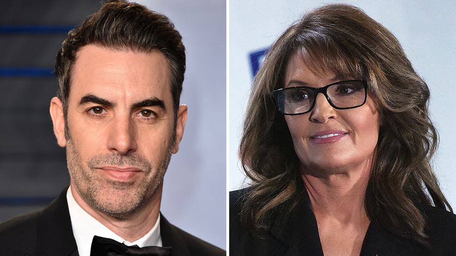 Sacha Baron Cohen and Sarah Palin - Getty-H 2018