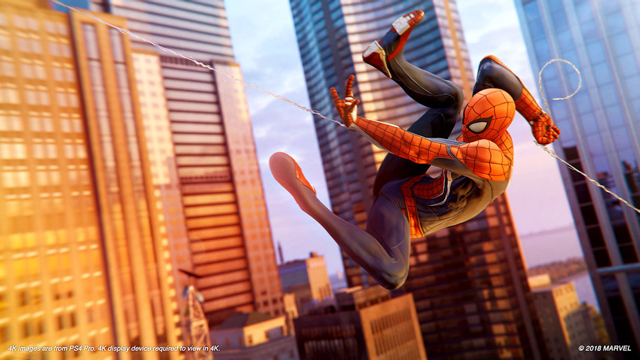 Spider-Man PS4 Preview Swing - Insomniac Games -Publicity- H 2018