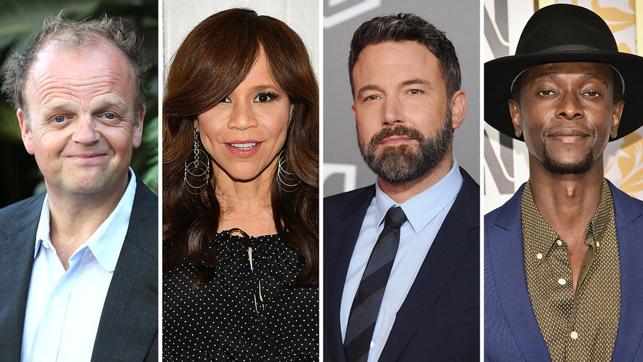 Toby Jones, Rosie Perez, Ben Affleck and Edi Gathegi_Split - Getty - H 2018
