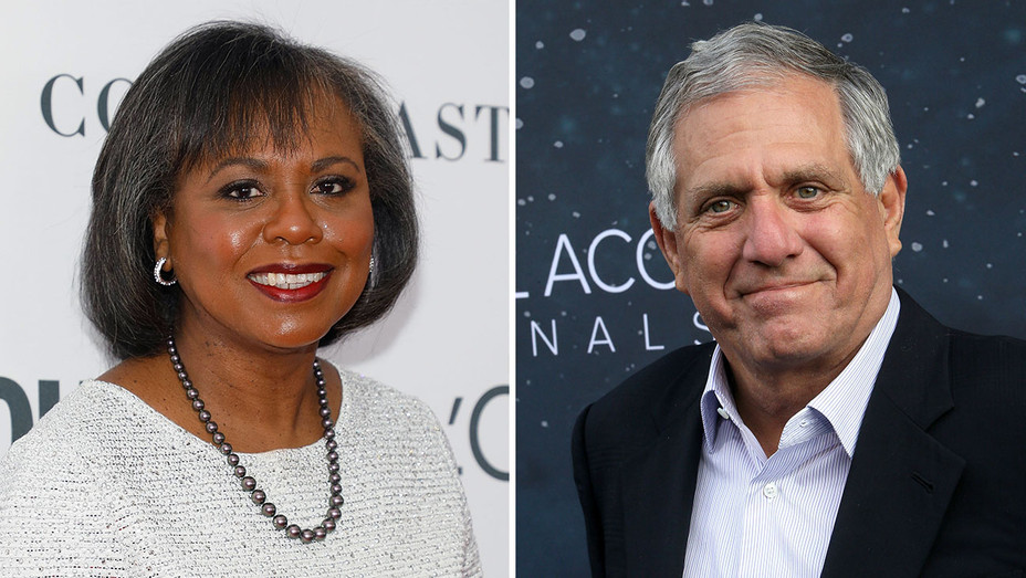 anita hill and les moonves_Split - Getty - H 2018