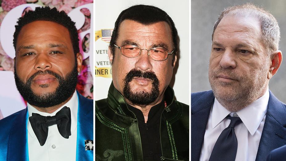 Anthony Anderson, Steven Seagal, Harvey Weinstein_Split - Getty - H 2018