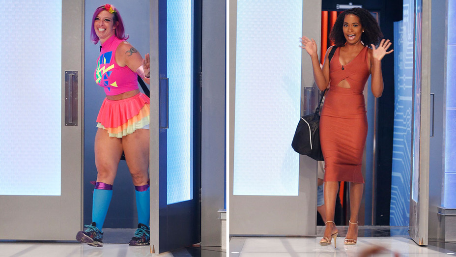 Big Brother Eviction Photo Split -Angie Lantry and Bayleigh Dayton - Publicity-H 2018