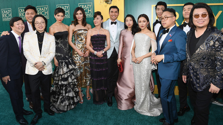 Cast of 'Crazy Rich Asians' at Premiere - Getty - H 2018