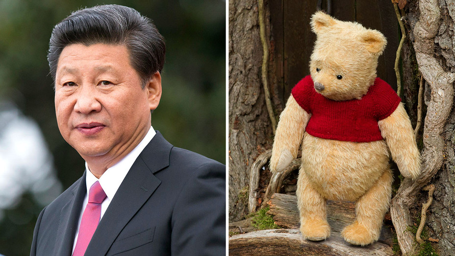 Chinese leader Xi Jinping and Winnie the Pooh in Disney's CHRISTOPHER ROBIN Split-Getty-H 2018.psd