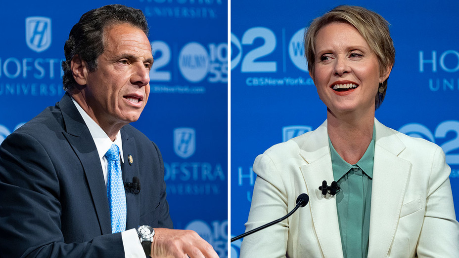Cuomo Nixon Debate_Split - Getty - H 2018