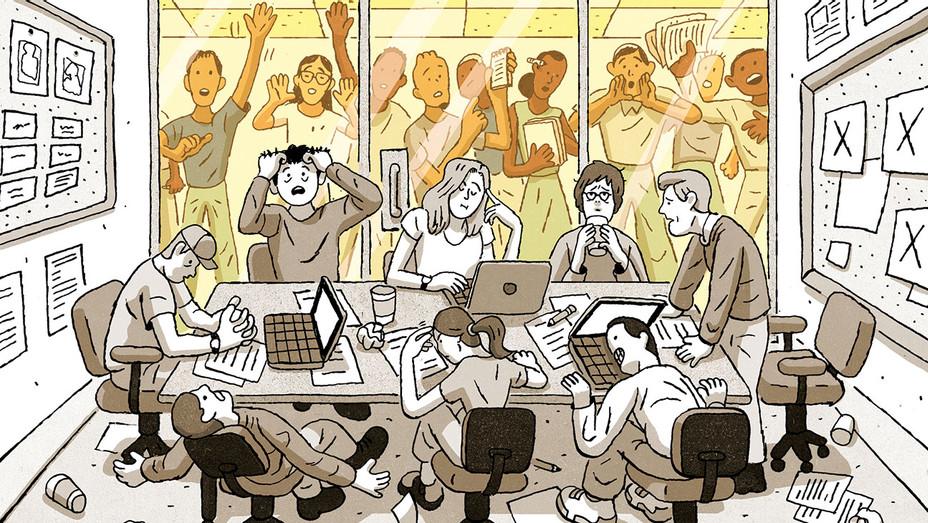 TV Writers Room - Stop Avoiding Diversity - Illustration by Tim Peacock - H 2018