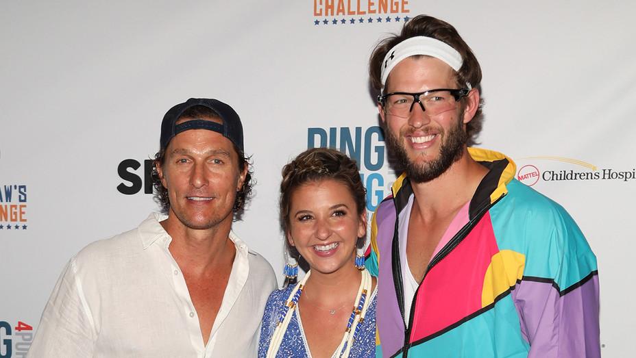 Matthew McConaughey Ellen Kershaw Clayton Kershaw Dodger Stadium - Getty - H 2018