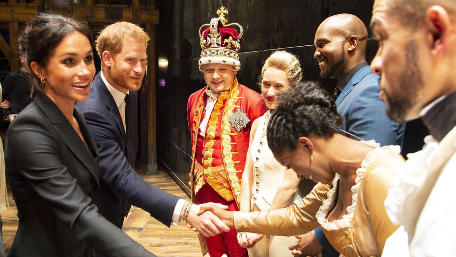 Prince Harry, Duke of Sussex and Meghan. Duchess of Sussex  at Hamilton backstage after the gala performance - Getty-H 2018