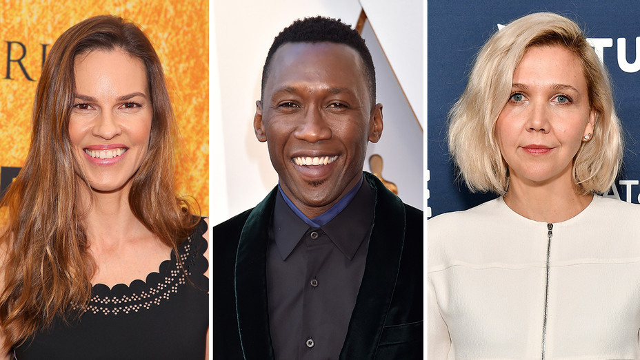 Hilary Swank, Mahershala Ali and Maggie Gyllenhaal_Split - Getty - H 2018