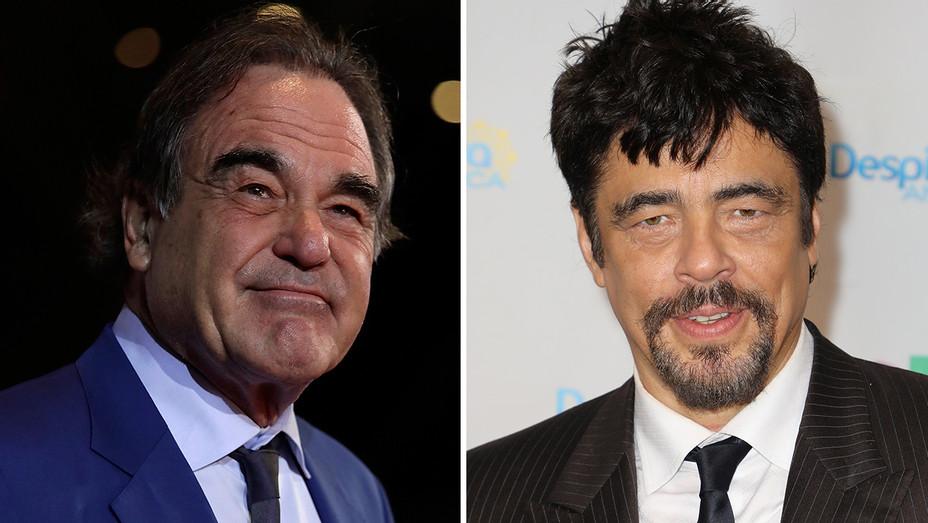Oliver Stone Benicio del Toro Split - Getty - H 2018