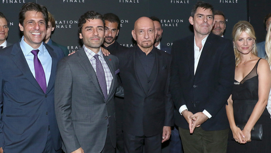 Jonathan Glickman Oscar Isaac Ben Kingsley Chris Weitz Melanie Laurent at 'Operation Finale' Premiere - Getty - H 2018
