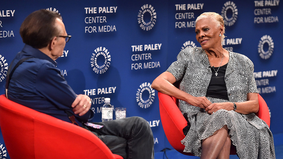 Larry king and Dionne Warwick - Getty - H 2018