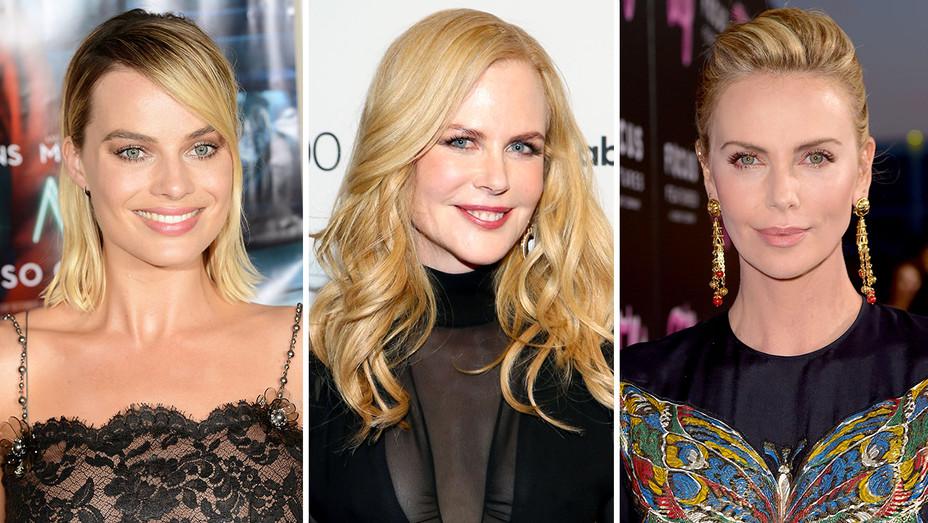Margot Robbie, Nicole Kidman and Charlize Theorn -Split- NEW-Getty - H 2018
