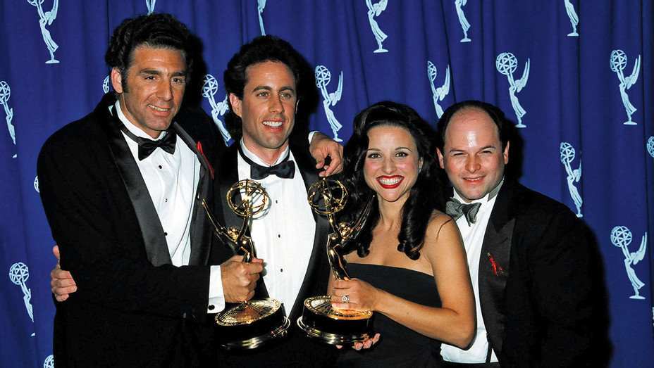Michael Richards, Jerry Seinfeld, Julia Louis-Dreyfus and Jason Alexander ONE TIME USE - Getty - H 2018