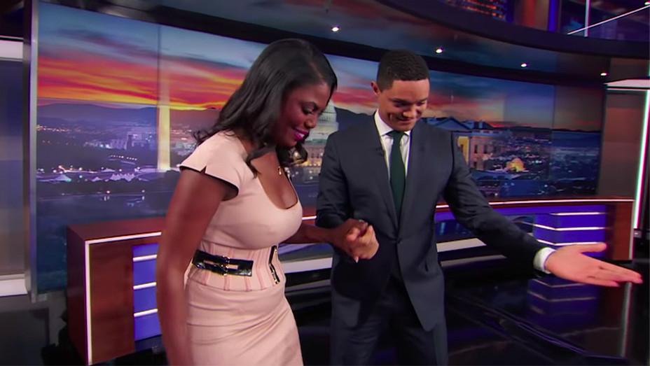 The Daily Show Trevor Noah Omarosa - Screengrab - H 2018