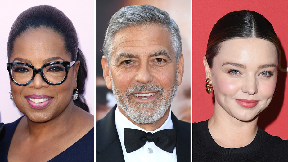 Oprah George Clooney Miranda Kerr - Getty - H Split 2018