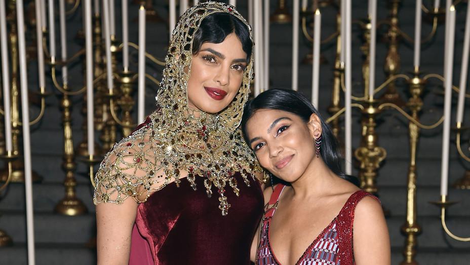 Priyanka Chopra and Zara Rahim attend the Heavenly Bodies - Getty - H 2018