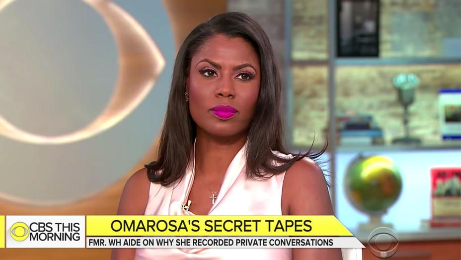 Omarosa on CBS This Morning -Omarosa on Trump tapes- Screen Shot-H 2018