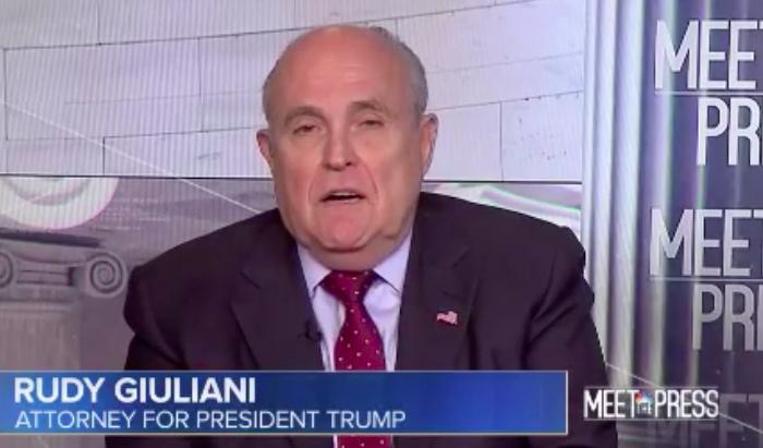 Rudy Giuliani 'Meet the Press' - H 2018 Screengrab