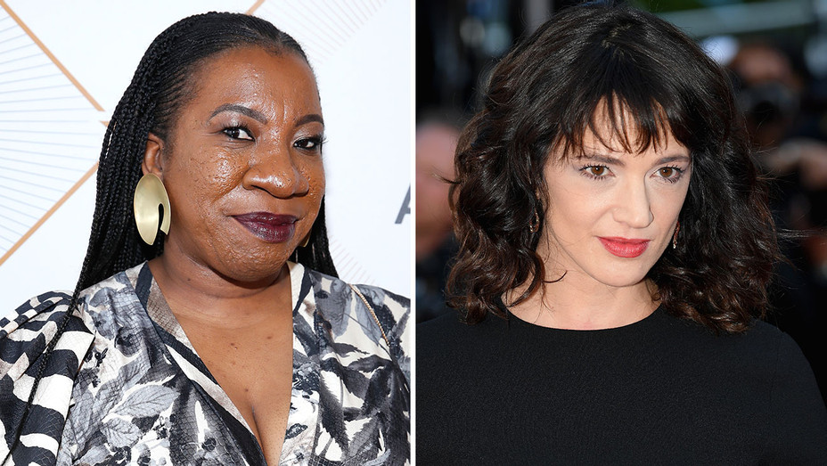 Tarana Burke and Asia Argento - serious -Getty-H 2018