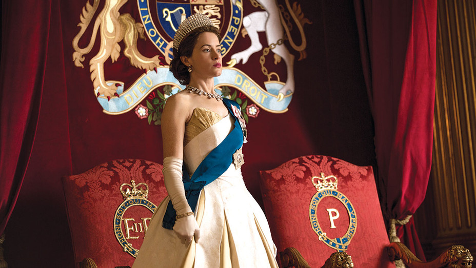 The Crown - Elizabeth at Prince Philip's investiture- Publicity-H 2018