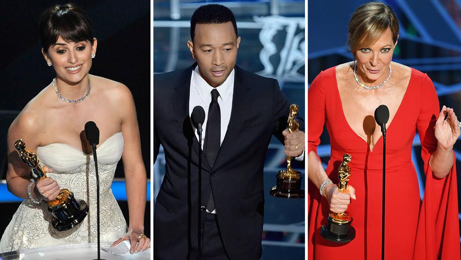 Penelope Cruz John Legend Allison Janney Winning Oscars Split - Getty - H 2018