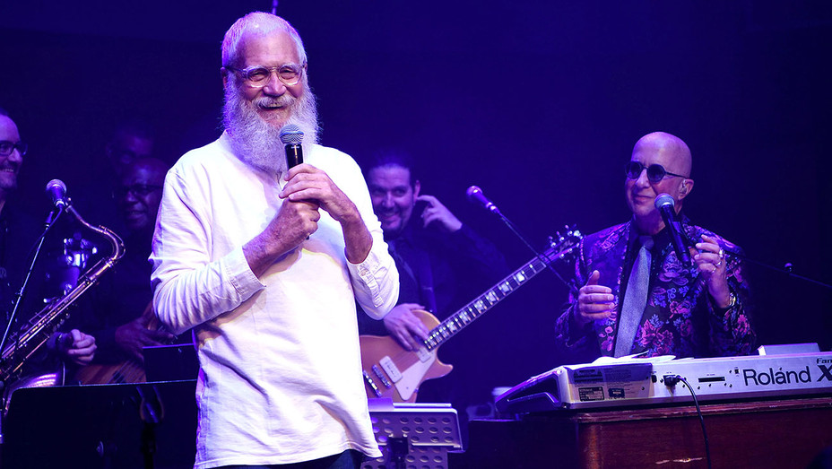 David Letterman and Paul Shaffer perform at Cleopatra's Barge at Caesars Palace on September 6, 2018 - Publicity-H 2018