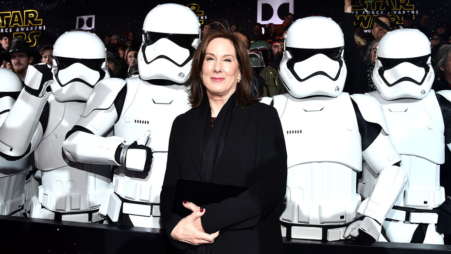 President of Lucasfilm Kathleen Kennedy attends the World Premiere of ?Star Wars: The Force Awakens-Getty-H-2018