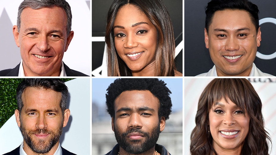Bob Iger, Tiffany Haddish, Donald Glover, Channing Dungey, Ryan Reynolds and Jon M. Chu - Split-Getty-H 2018